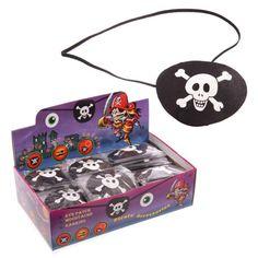 TY514 - Benda per Occhio da Pirata con Teschio stampato   Puckator IT #partybag #kit #idee