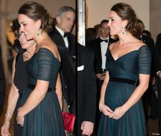 Kate in a recycled Jenny Packham gown (with new jewelry and a new baby bump!) for Black Tie Gala at the Met