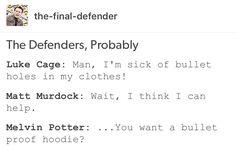 Luke Cage, Power Man, Matt Murdock, daredevil, Melvin Potter, marvel, mcu, avengers, the defenders