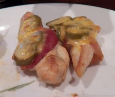 Jalapeno Popper Bacon Wrapped Chicken.  With just the right amount of spice.