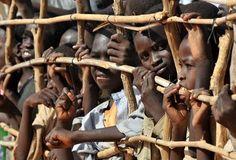 Sudanese children in a refugee camp in Chad