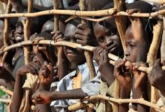 Sudanese children in a refugee camp in Chad