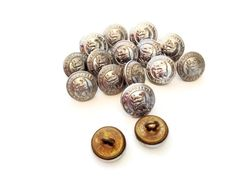 16 Vintage British Ambulance service Buttons small Made in England Silver - pinned by pin4etsy.com