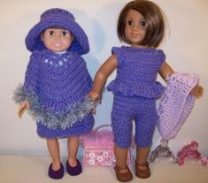 "The Love of Lilacs - 18"" doll - Free Original Patterns - Crochetville"