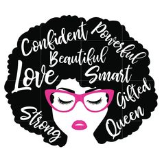 Black Woman with glasses Svg, Afro Woman Svg, African American Woman s – SVGTrending Black Love Art, Black Girl Art, My Black Is Beautiful, Black Girls Rock, Black Girl Magic, Black Girl Shirts, Beautiful Women, African American Girl, African American Quotes