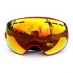 COPOZZ Pro Unisex Ski Snow Skate Snowboard Snowmobile Goggle with Mirrored Lens - Anti-Fog UV Protection Detachable Wide Spherical Goggle Lens (Red) Copozz http://www.amazon.com/dp/B0165B8UO0/ref=cm_sw_r_pi_dp_Bv5Ewb190YTMW