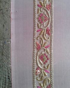 W O R K S H O P B T S Bespoke Dupatta in process! Zardosi Embroidery, Hand Embroidery Dress, Embroidery Suits Design, Embroidery Works, Couture Embroidery, Embroidery Fashion, Hand Embroidery Designs, Beaded Embroidery, Embroidery Patterns