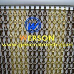 rideau de porte en chainette aluminium