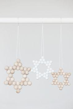 wood bead star |bildschœnes: Sternstunden