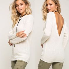 """Shop Women's White Cream size Various Sweaters at a discounted price at Poshmark. Description: NO TRADES 