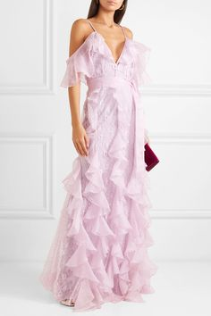 294454823c25 alice McCALL - My Baby Love cold-shoulder ruffled silk-organza and corded  lace maxi dress