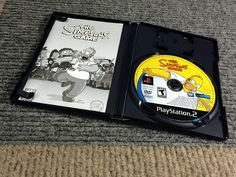 THE SIMPSONS GAME COMPLETE PLAYSTATION 2 PS2 VIDEO GAME DISC WORKS PERFECTLY T