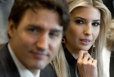 The president's daughter probably doesn't fancy Canada's PM like the rest of the internet – but that didn't stop the jokes.
