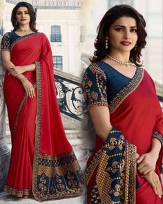 Prachi Desai in Saree#designersaree #designersareeblouse #designersareesusa #designersareemumbai #designersareeskolkata #designersareesdelhi #designersarees #designersareekolkata #designersareedelhi #kurtis #designersuits #indowestern #indianbride #goldjewellery #bridalentry #salwarsuits #desifashion #desilook #love #bikini #pinkvilla #ratibeauty #handloom #clientdiaries #indianbodybuilding #missindiafit #weddingsofinstagram #delhidiaries #bollywood #share Red Saree, Bollywood Saree, Bollywood Fashion, Om Namah Shivaya, Chiffon Saree, Cotton Saree, Sari Bluse, Lehenga Dupatta, Work Sarees