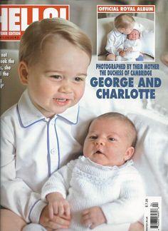 Hello magazine Princess Charlotte Kate Middleton Prince William and George     .