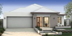 Don Russell Display Homes: The Mondano Contemporary Facade. Visit www.localbuilders.com.au/display_homes_perth.htm for all display homes in Perth