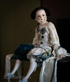 Pierrot. Artist doll by Alisa Filippova
