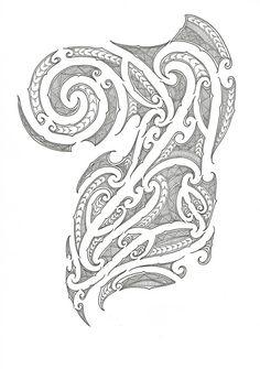 Ta Moko Designs   tagged maori ta moko maori ta concept chest half sleeve