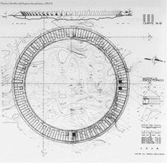 Planta y detalles del Espacio Escultórico