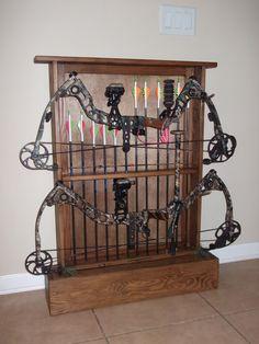 Homemade bow rack