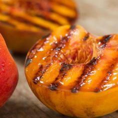 Grilled Peaches with Cinnamon Honey Yogurt Dip