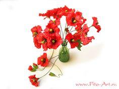 15 gorgeous red poopy flower arrangements and remembrance day table red poppy floral centerpiece with green glass vase mightylinksfo