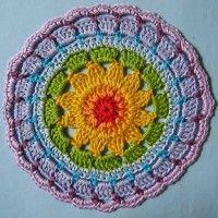 Crochet Mandala Wheel made by  Daniela, Germany for  yarndale.co.uk