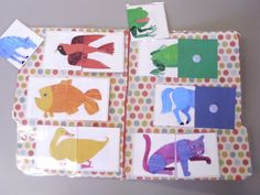 cute Brown Bear matching activity for file folder game