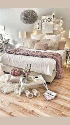 Room Design Bedroom, Room Ideas Bedroom, Home Decor Bedroom, Modern Bedroom, Master Bedroom, Bedroom Plants, Comfy Bedroom, Bed Room, Contemporary Bedroom