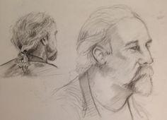 Sketch book Portrait study in pencil