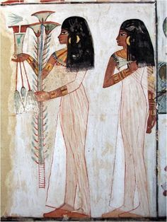 Wall painting in the Tomb of Menna, Egypt
