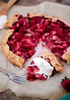 Fresh Strawberry Galette        Candy, Cakes