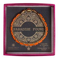 paradise found orange bead bracelet, 7 inch #dogeared #bracelets #paradisefound