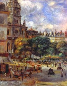 Church of the Holy Trinity in Paris - Pierre-Auguste Renoir 1892 Completion Date:1893