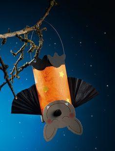 vleermuis lampion - perfect om samen te knutselen met Halloween!