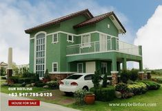 green painted house - Google Search Model House, Exterior Colors, Home Art, Philippines, Mansions, Google Search, House Styles, Interior, Green