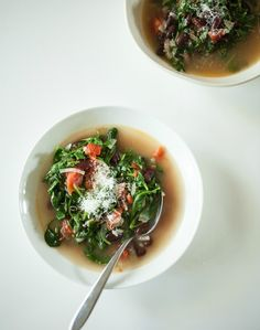 Italian-style beans and greens soup