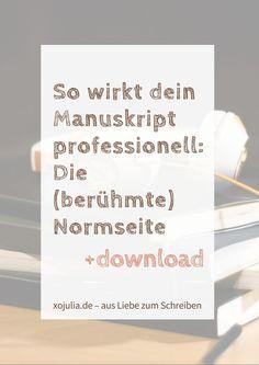 Manuskript für Verlage professionell gestalten.