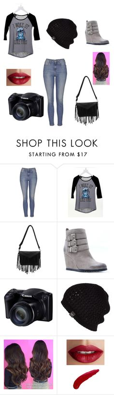 """""""Photography job"""" by jazzygirl-fun ❤ liked on Polyvore featuring moda, Topshop, dELiA*s, Qupid, UGG Australia y TheBalm"""