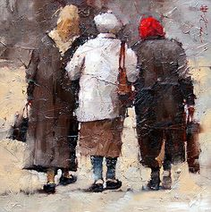 """To the Market"", by Andre Kohn (Russian-American, b. 1972)"