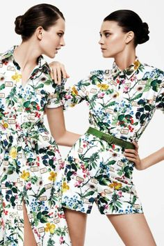 Looks from the Archive II collection by Carolina Herrera. [Courtesy Photo]