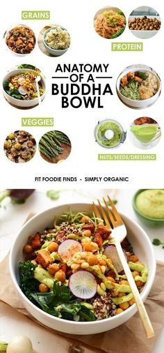 Eat the rainbow and make yourself a delicious buddha bowl packed with whole grains lean protein and tons of veggies nuts and seeds!