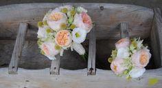 Ramo de novia con rosas David Austin Juliet en tonos suaves. Mayula Flores
