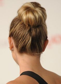 Bun Hairstyles For Long Hair - Easy High Donut Bun