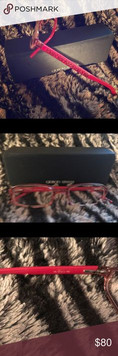 Armani Hot Pink Frames Small, Hot Pink Armani Frames. You will have to get your prescription filled with them. Used a few times, stored in dark closet. Emporio Armani Accessories Glasses