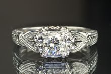 .65 Carat Diamond Vintage Solitaire Engagement Ring from the 1940s....IM IN LOVE!