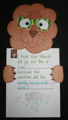 Classroom Freebies: Lion and Lamb Writing Prompts