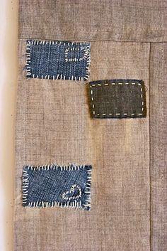 Foreclosure Boro Las Vegas, detail, 2011. Denim and wool on bleached linen. Kathryn Clark