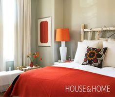 Photo Bedroom Orange Beige