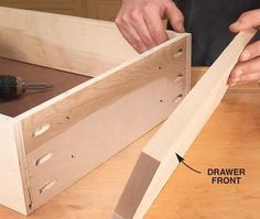 Tips for Building Cabinets with Pocket-Hole Joinery New tools and improved techniques make pocket-screw assembly faster than ever. By Brad Holden Many production shops use pocket-hole joinery to build cabinets because it's fast, easy and efficient. You don't need an armload of pipe clamps. There are no unsightly face-frame nail holes to fill. And you don't have to wait for glue to dry before you move on to the next … #woodworkingtips